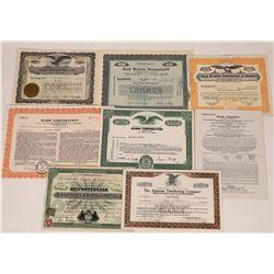 Food Equipment Company Stock Certificates  (109133)