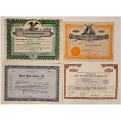 Four Different US Gaming Stock Certificates  (126354)