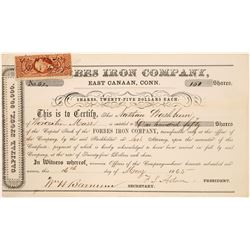 Forbes Iron Company Stock Certificate  (126061)