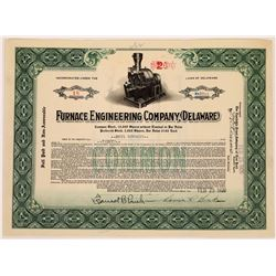 Furnace Engineering Company Stock Certificate  (126026)