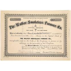 Walker Smokeless Furnace Company Stock Certificate  (125918)