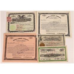 California Lumber Stock Certificates  (109246)