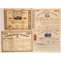 Early Iron and Steel Companies Stocks (4)  (126786)