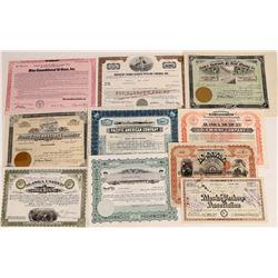 Miscellaneous Alaska Stock Collection (Mining, Fishing, Air)  (109276)