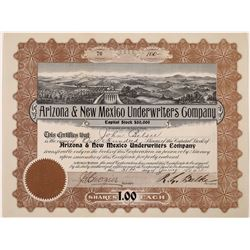 Arizona & New Mexico Underwriters Company Stock Certificate  (126051)