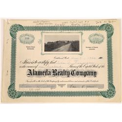 Alameda Realty Company Stock Certificate  (125899)