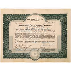 Arrowhead Development Company Stock Certificate  (126052)