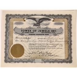 Tower of Jewels Inc. Diamond Guarantee Bond  (126055)