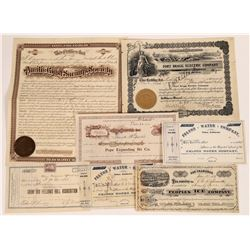 California Non-Mining Related Stock Certificate Group  (109146)