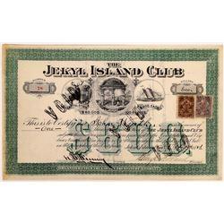Jekyl Island Club Stock Certificate  (126302)