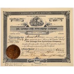 Chicago Fire Cyclorama Co. Stock Certificate (Columbian Expo. Attraction)  (126317)