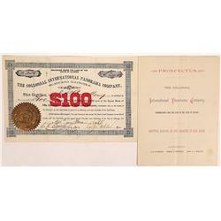 Collossal International Panorama Co. Stock Certificate & Prospectus  (126324)