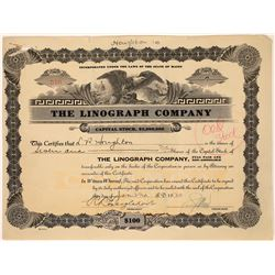 The Linograph Company Stock Certificate  (126042)