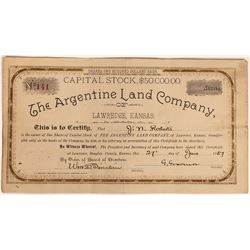 Argentine Land Company Stock Certificate  (126050)
