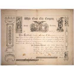 Kansas Territory, White Cloud City Certificate, 1857, issued to Louise Denver  (127047)