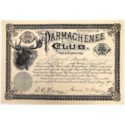 Parmachenee Club Stock Certificate  (126307)