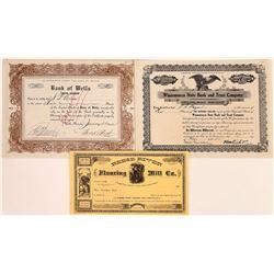 Three Non-Mining Nevada Stocks incl. Two Banking  (113792)