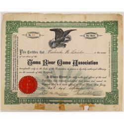 Toms River Game Association Stock  (126947)