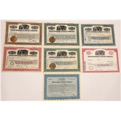 Abercrombie & Fitch Co. Stock Certificate Group incl. Fitch Signature  (126402)