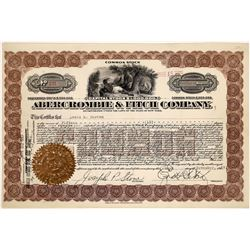Abercrombie & Fitch Co. Stock Certificate Signed by Fitch  (126065)