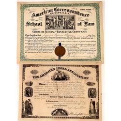 American Law-Related Membership Certificates  (126003)