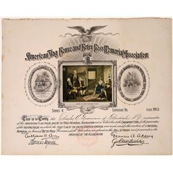 American Flag House & Betsy Ross Memorial Assoc. Certificate  (126004)