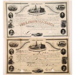 Two 1860s City of Philadelphia Bonds  (126088)