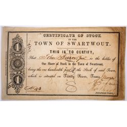 Certificate of Stock in the Town of Swartwout  (127049)