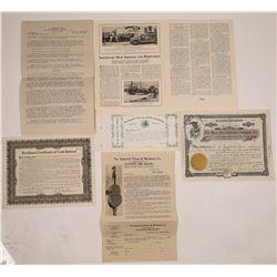 Fire Company Stock Certificates & Ephemera  (126000)