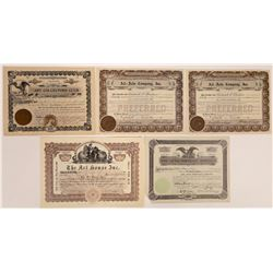 Art Company Stock Certificate Group  (126332)