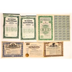 Fraternal Masons Related Stock Certificate & Bond Group  (126357)
