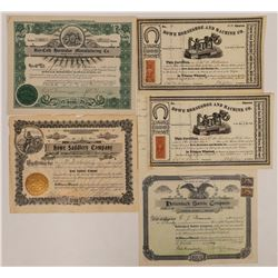 Horseshoe and Saddlery stock Certificate Collection  (126944)