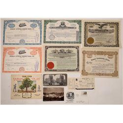 Jewish-Related Stock Certificates & Ephemera  (126212)