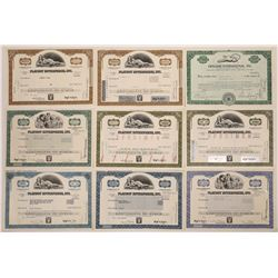 Playboy Enterprises Stock Certificate Collection Plus Extra  (126361)