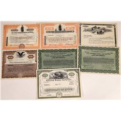 Radio & Phonograph Stock Certificate Group  (109271)