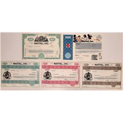 Toy Company Stock Certificates: Mattel Inc.  (126336)