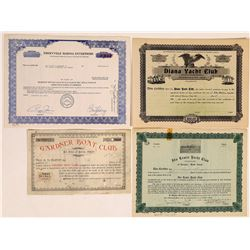 Yacht & Boat Club Stock Certificates (4)  (126344)