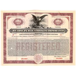 Hearst Publications, Inc. Specimen Bond  (126279)
