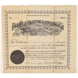 Perry Publishing & Industrial Company Stock Certificate  (126274)