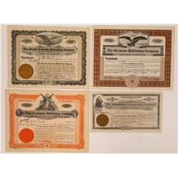 Colorado Printing & Publishing Stock Certificates  (126260)