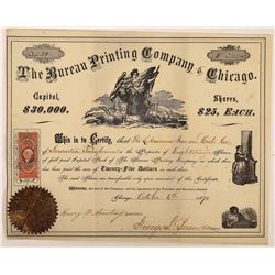 Bureau Printing Company of Chicago Stock Certificate  (126270)
