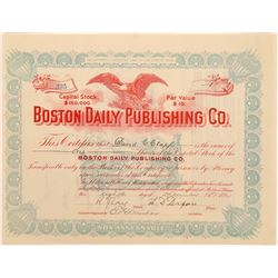 Boston Daily Publishing Company Stock Certificate  (126256)