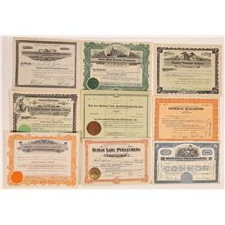 Massachusetts Printing & Publishing Stock Certificates  (126267)