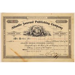 Atlantic Journal Publishing Company Stock Certificate  (126278)