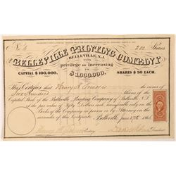 Belleville Printing Company Stock Certificate   (126269)