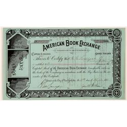 American Book Exchange Stock Certificate  (126277)
