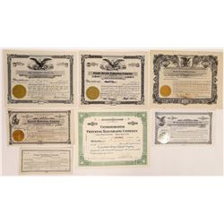 Oregon & Washington Printing & Publishing Stock Certificates  (126262)