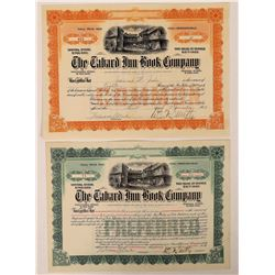 Tabard Inn Book Company Stock Certificate Pair  (126280)