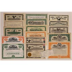 Pennsylvania Printing & Publishing Stock Certificate Collection  (126265)