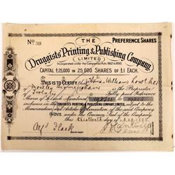 Druggists' Printing & Publishing Company, Ltd. Stock Certificate  (126289)